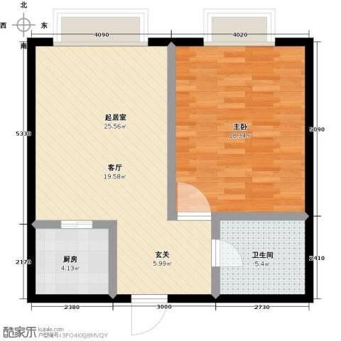 佳馨花园二期1室0厅1卫1厨61.00㎡户型图