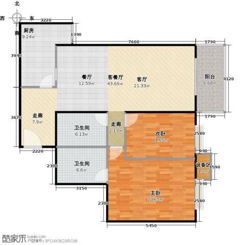 新华经典丽园2室1厅2卫1厨131.00㎡户型图