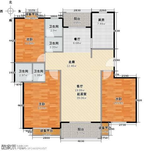 金羚嘉和馨园二期3室0厅4卫1厨150.00㎡户型图