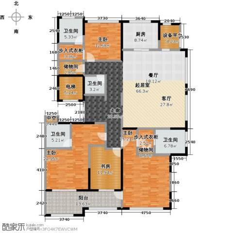 石湖天玺4室0厅4卫1厨227.55㎡户型图