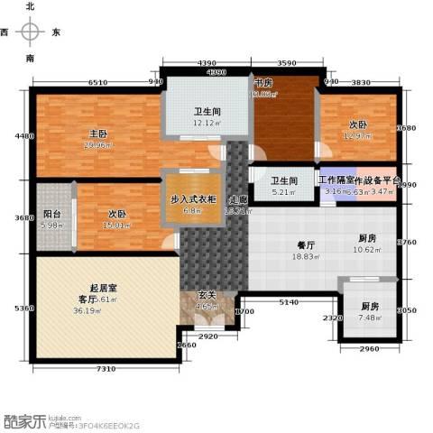 晋合公寓4室0厅2卫1厨230.00㎡户型图