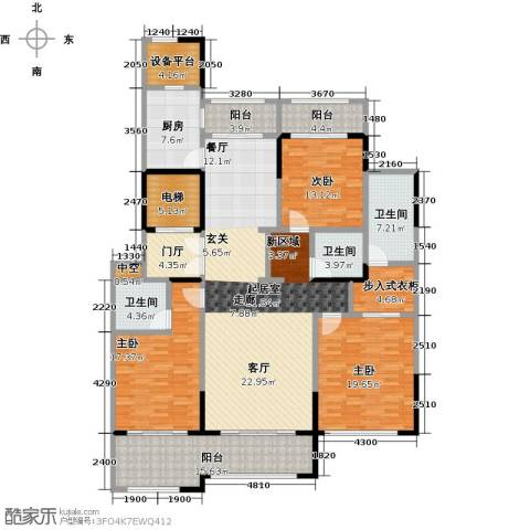 石湖天玺3室0厅3卫1厨191.00㎡户型图