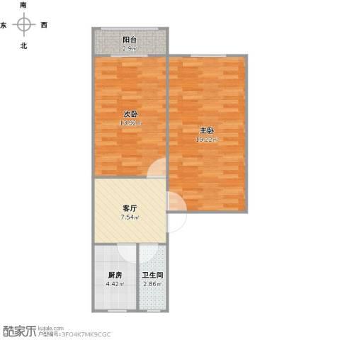 申莘新村2室1厅1卫1厨68.00㎡户型图
