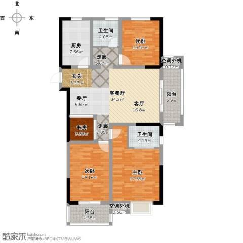 景城名郡4室1厅2卫1厨155.00㎡户型图