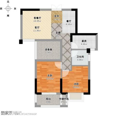 景城名郡2室1厅1卫1厨89.00㎡户型图