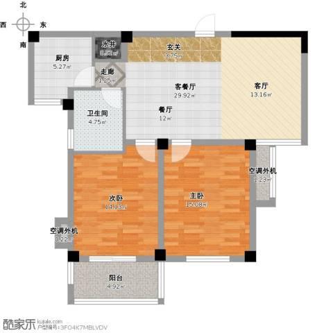 景城名郡2室1厅1卫1厨109.00㎡户型图
