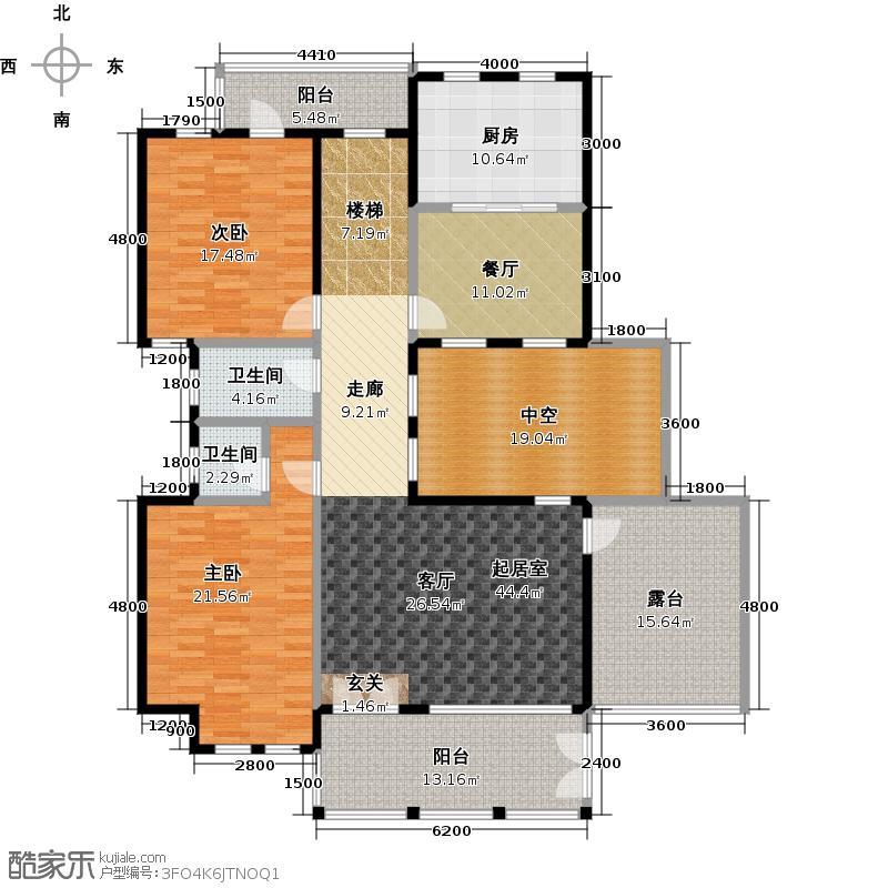 明珠新苑户型2室1厅2卫1厨