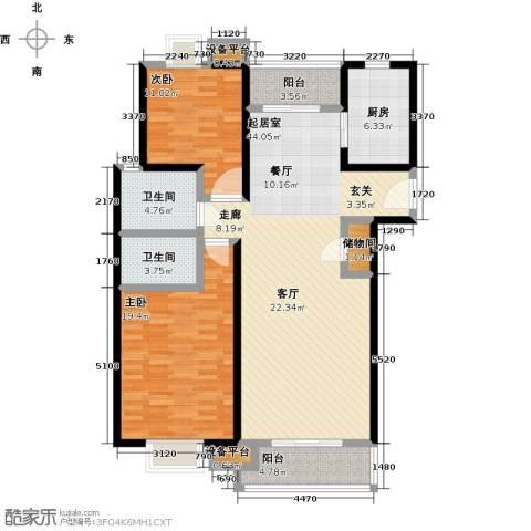世纪飞凡锦城(世纪长江苑)2室0厅2卫1厨145.00㎡户型图