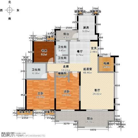 新邦涌金门二期3室0厅3卫1厨161.00㎡户型图