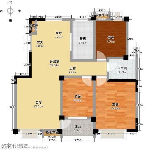 新邦涌金门二期3室0厅1卫1厨110.00㎡户型图