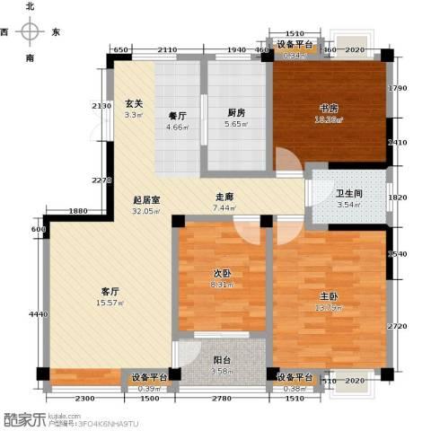 新邦涌金门二期3室0厅1卫1厨112.00㎡户型图