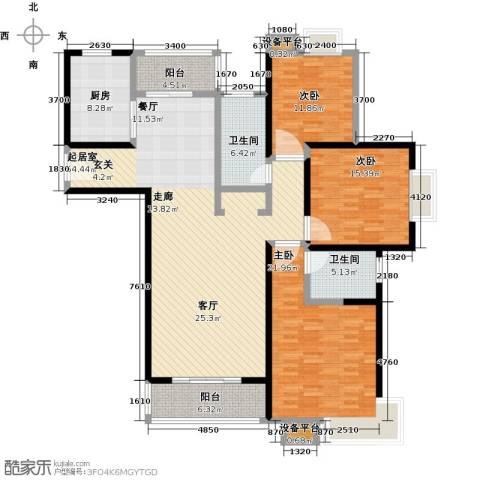 世纪飞凡锦城(世纪长江苑)3室0厅2卫1厨194.00㎡户型图