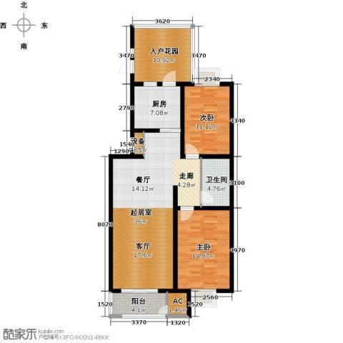 幸福新天地一期2室0厅1卫1厨93.00㎡户型图