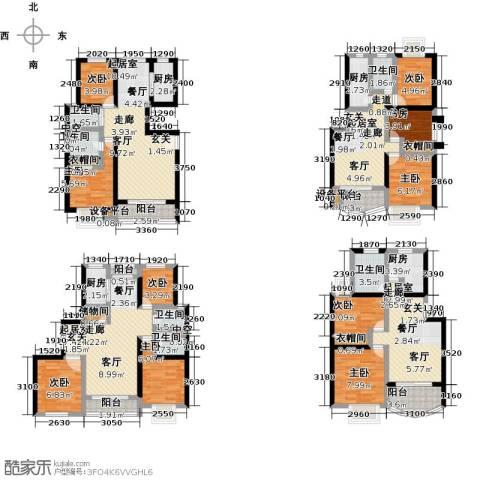 世纪飞凡锦城(世纪长江苑)9室0厅6卫4厨235.00㎡户型图