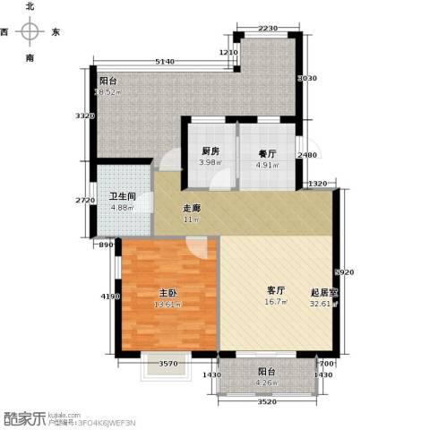 大地12城二期--朗琴园1室0厅1卫1厨109.00㎡户型图