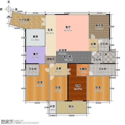 银都花园8号1室0厅4卫1厨293.00㎡户型图