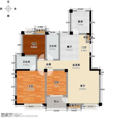 新邦涌金门二期3室0厅2卫1厨142.00㎡户型图