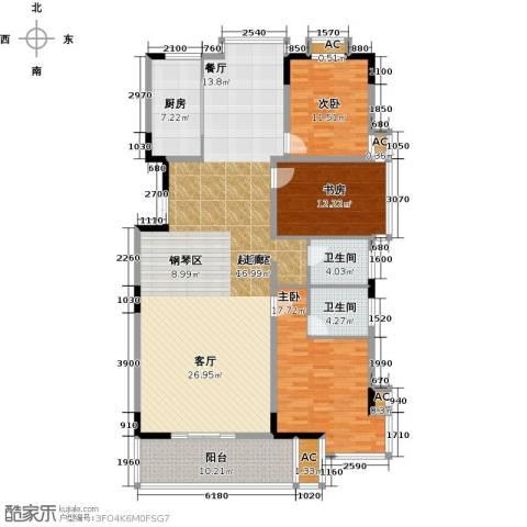 历山名郡一期3室0厅2卫1厨191.00㎡户型图