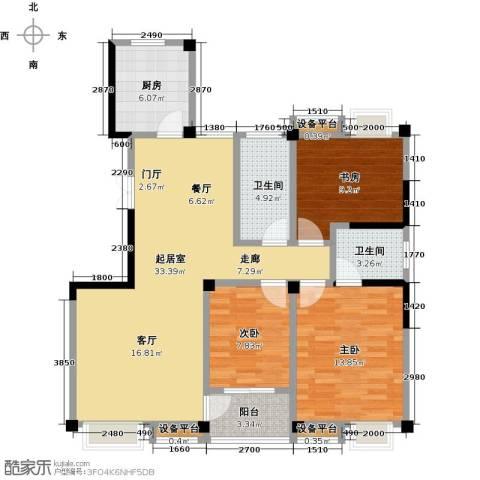 新邦涌金门二期3室0厅2卫1厨119.00㎡户型图