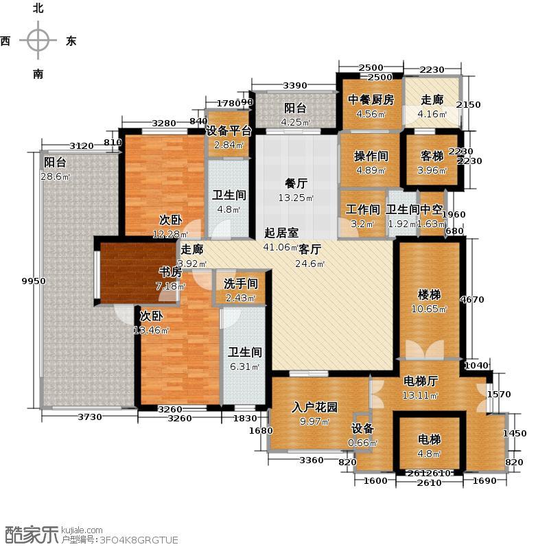 奥林匹克花园149.06㎡3室2厅3卫户型3室2厅3卫