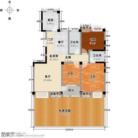 新邦涌金门二期3室0厅2卫1厨177.00㎡户型图