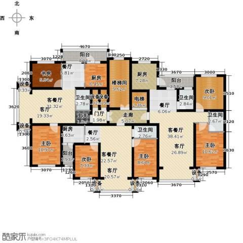 金港湾二期6室3厅4卫1厨284.00㎡户型图