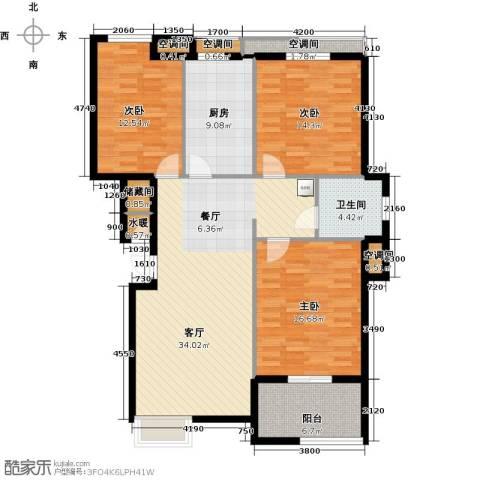 众成・新居华府3室1厅1卫1厨125.00㎡户型图