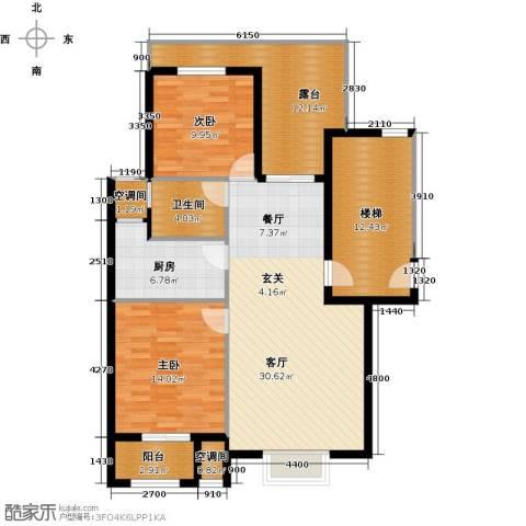 众成・新居华府2室1厅1卫1厨94.89㎡户型图