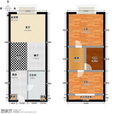 睿峰商务广场3室0厅1卫0厨82.21㎡户型图