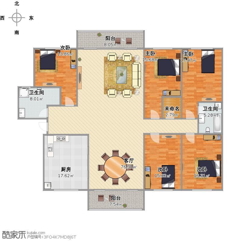 188平5室2厅