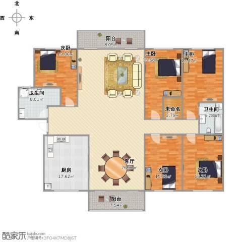 蓝天航空苑5室1厅2卫1厨272.00㎡户型图