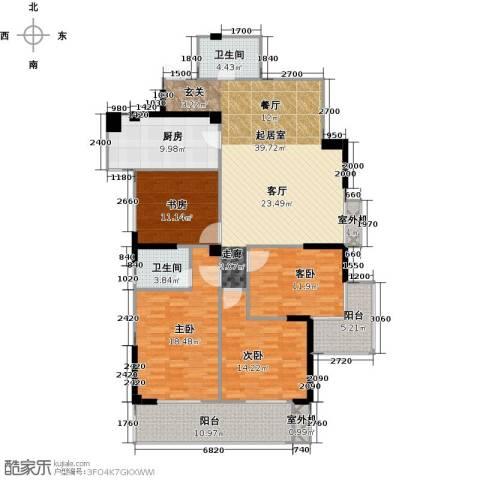 衣锦华庭3期4室0厅2卫1厨181.00㎡户型图