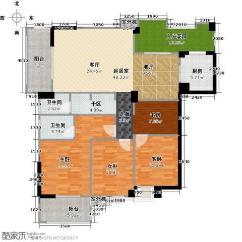 衣锦华庭3期3室0厅2卫1厨171.00㎡户型图