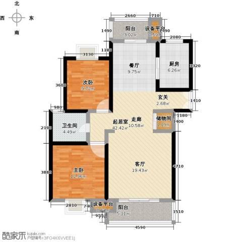 世纪飞凡锦城(世纪长江苑)2室0厅1卫1厨100.00㎡户型图