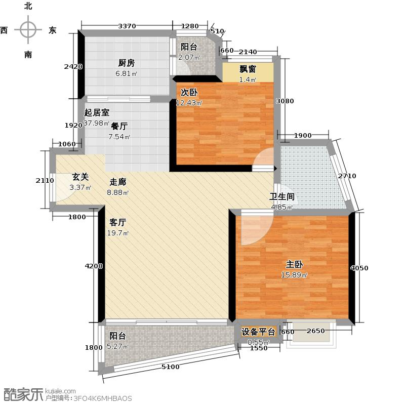 逸兴公寓100.00㎡房型: 二房; 面积段: 100 -110 平方米;户型
