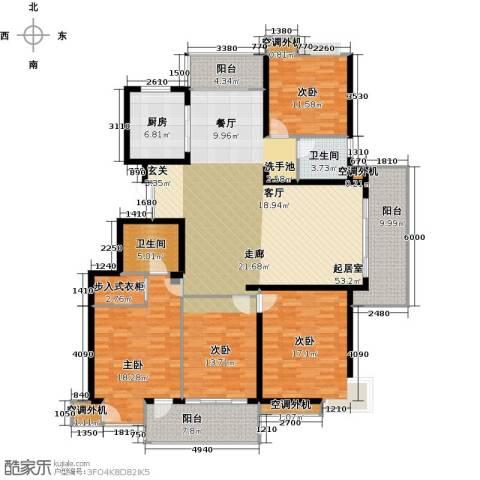 丽景华庭4室0厅2卫1厨167.00㎡户型图