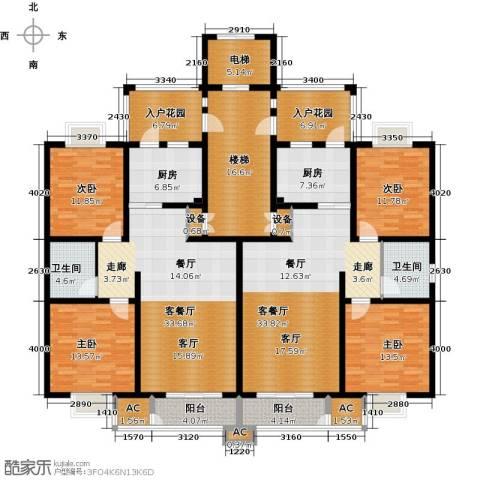 幸福新天地一期4室2厅2卫2厨190.53㎡户型图