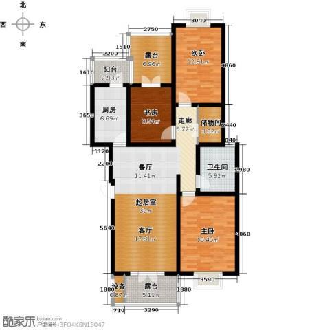幸福新天地一期3室0厅1卫1厨105.00㎡户型图