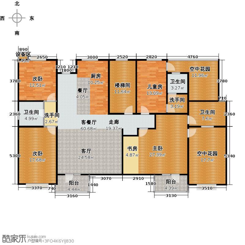 公园季户型4室1厅3卫