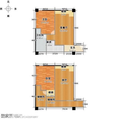 美利・国际1室1厅1卫1厨185.00㎡户型图