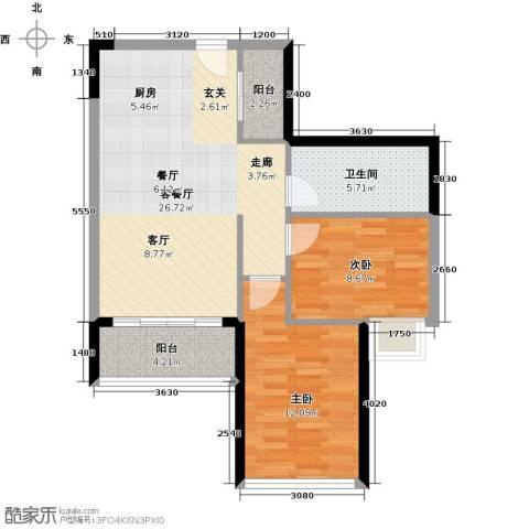 碧桂园・金海湾2室1厅1卫0厨84.00㎡户型图