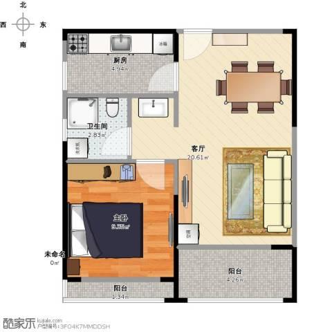 光谷8号1室1厅1卫1厨59.00㎡户型图