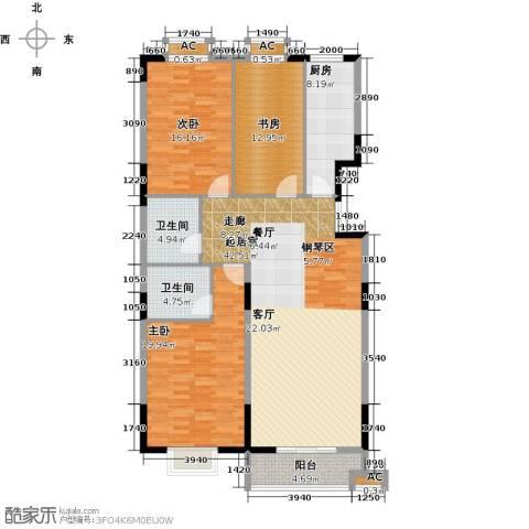历山名郡一期3室0厅2卫1厨161.00㎡户型图