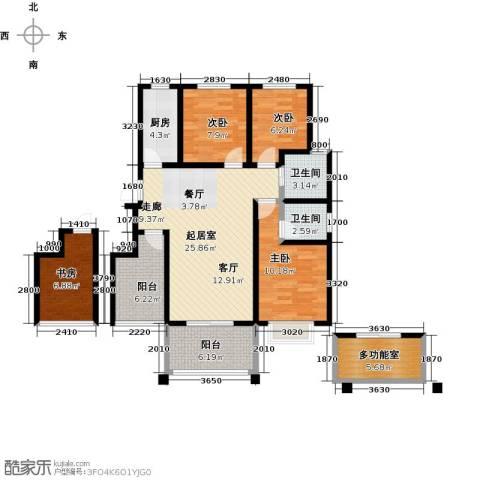 郑东宽景一品4室0厅2卫1厨99.00㎡户型图