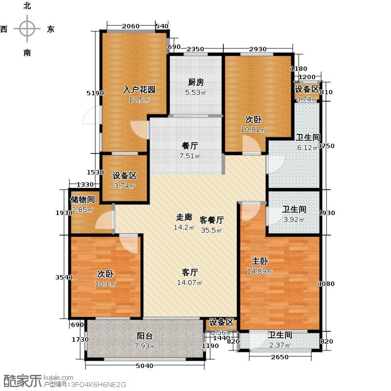 国仕山(国仕墅)139.90㎡M1户型3室2厅2卫