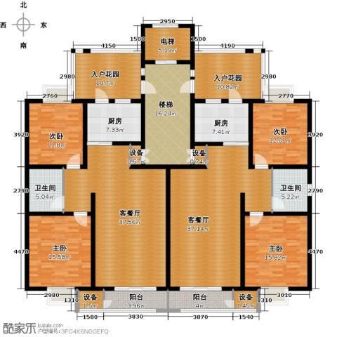 幸福新天地一期4室2厅2卫2厨210.17㎡户型图