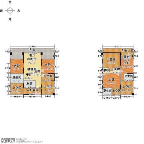 御林伯爵公馆4室1厅4卫1厨308.00㎡户型图