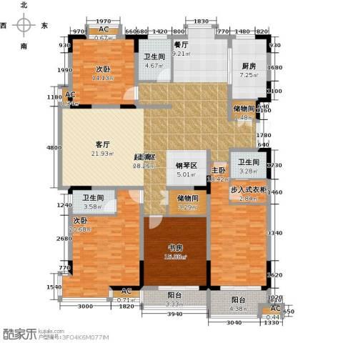 历山名郡一期4室0厅3卫1厨240.00㎡户型图