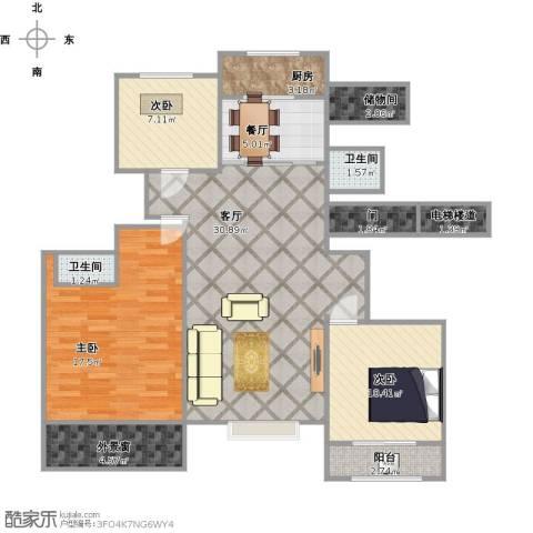 东方・骏景3室2厅2卫1厨175.00㎡户型图