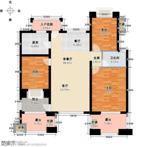 新宇拉菲公馆3室1厅1卫1厨114.00㎡户型图